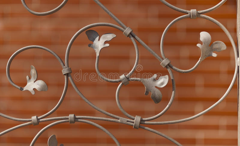 Decorative wrought iron grille royalty free stock photography
