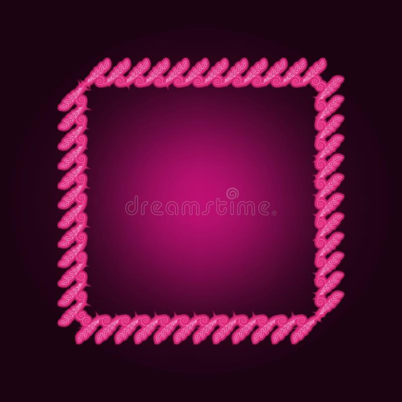 Decorativeframe和边界霓虹象 框架集合的元素 网站的简单的象,网络设计,流动应用程序,信息图表 皇族释放例证
