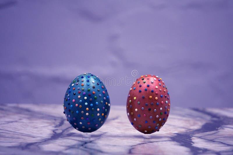 Decorativo anaranjado de los objetos de los días de fiesta de Pascua de las aficiones de los artes fotos de archivo