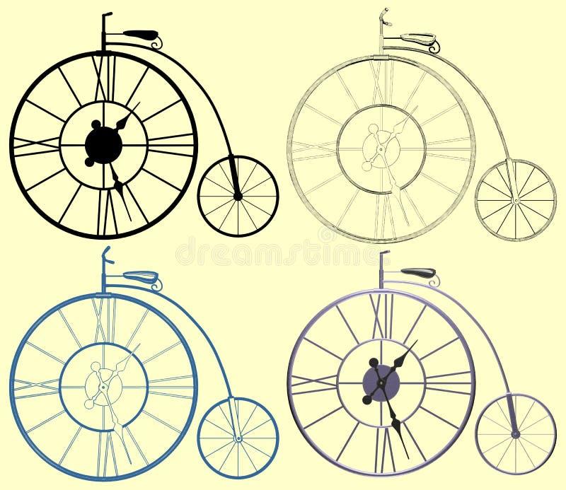 Decorativo um vetor da bicicleta do Moeda de um centavo-Farthing do pulso de disparo ilustração royalty free