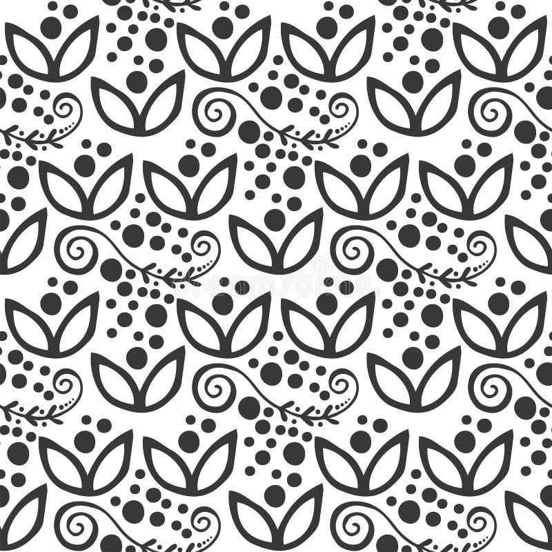 Decorato tribale di turbinio di mehendi di fiore del modello del fondo dell'ornamento di vettore dell'illustrazione di stile senz illustrazione vettoriale