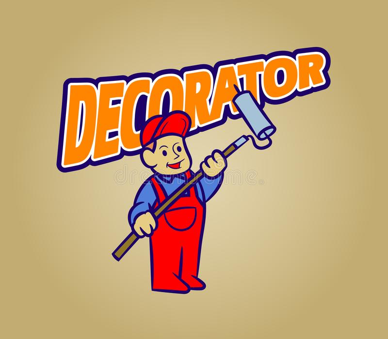 Decorator Retro Cartoon stock illustration