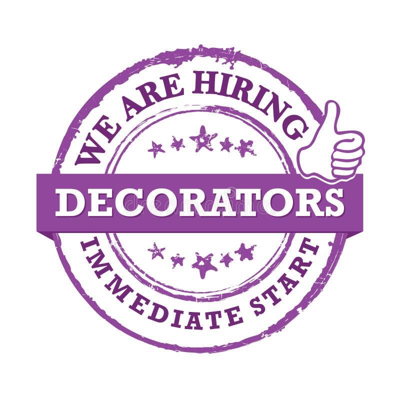 Decorators - zatrudniamy, bezpośredni początek - Akcydensowa etykietka ilustracji