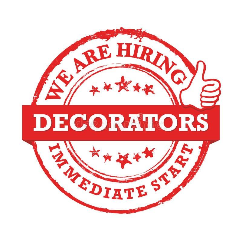 Decorators - zatrudniamy, bezpośredni początek - rewolucjonistka znaczek dla Akcydensowej etykietki ilustracji