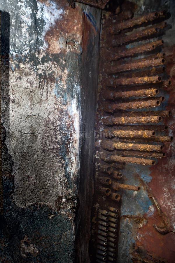 Decoravonturen ondergronds in een bunker stock foto
