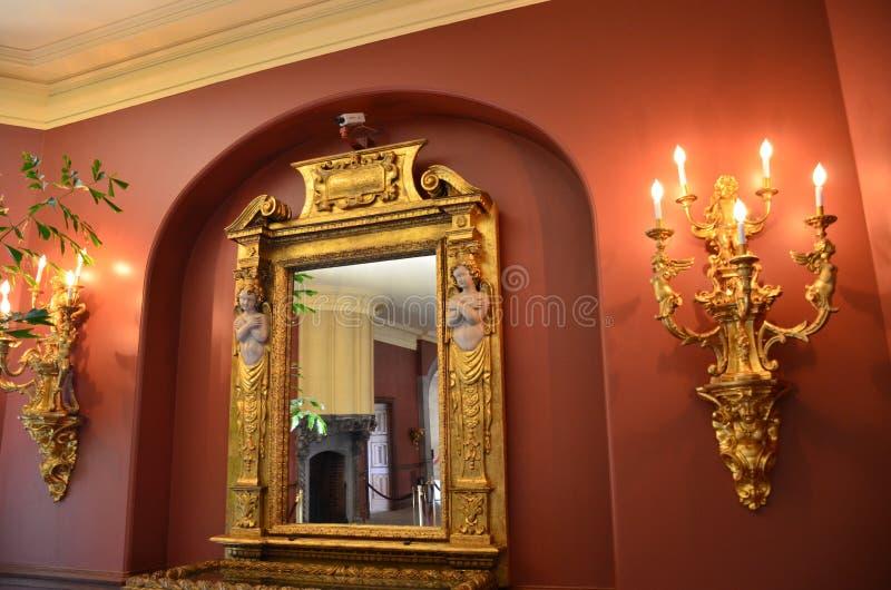 Decorazione antica della candela fotografia stock