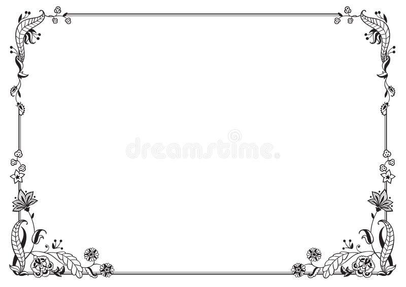 Decorazione calligrafica della pagina e della struttura Illustrazione di vettore royalty illustrazione gratis