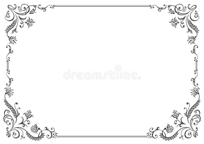 Decorazione calligrafica della pagina e della struttura Illustrazione di vettore illustrazione di stock