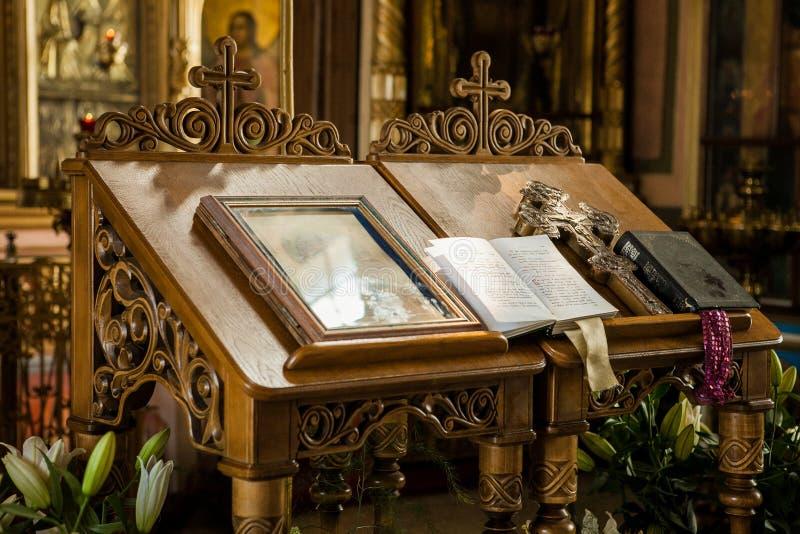 Decorazione in Christian Church russo fotografia stock