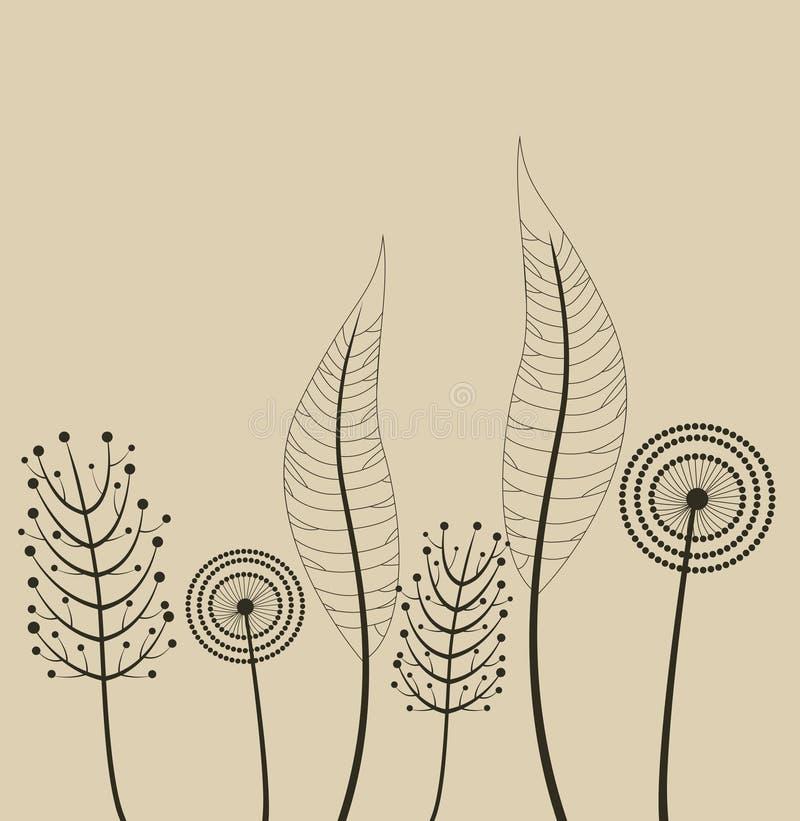 Decorazione con i fiori della molla. royalty illustrazione gratis