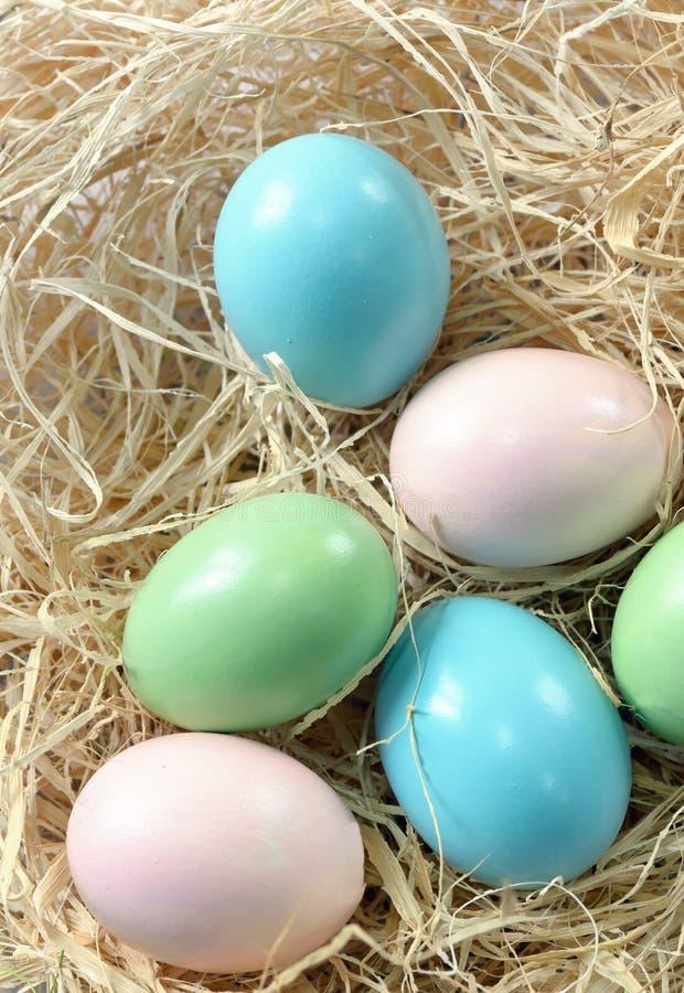 decorazione con le uova di Pasqua immagini stock