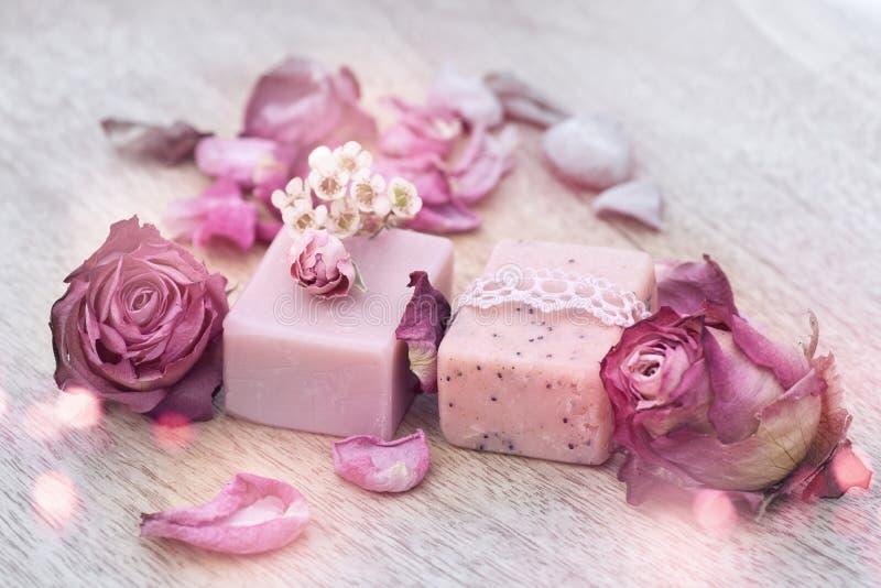 Decorazione con sapone naturale fotografia stock libera da diritti