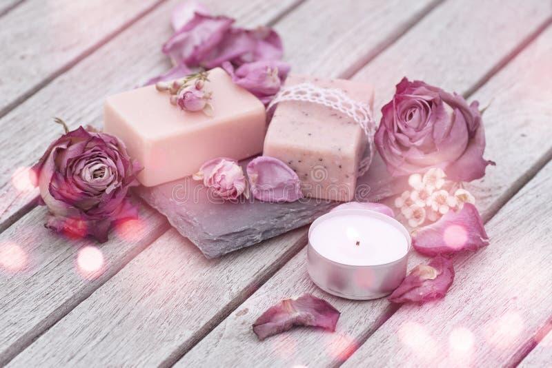 Decorazione con sapone naturale immagini stock libere da diritti