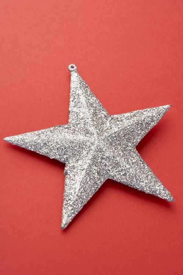 Decorazione d'argento dell'albero di Natale fotografia stock libera da diritti