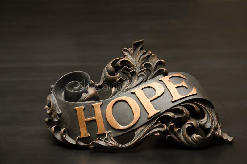 Decorazione decorata classica del rotolo di speranza fotografia stock libera da diritti
