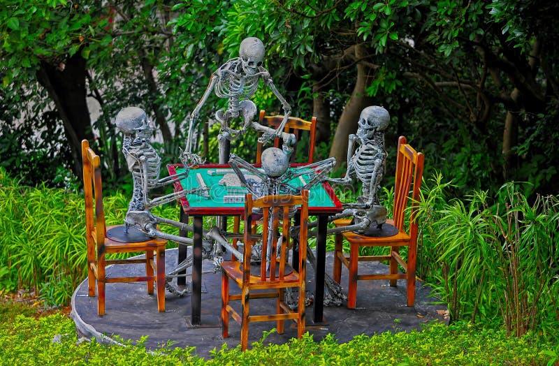 Decorazione degli scheletri fotografia stock