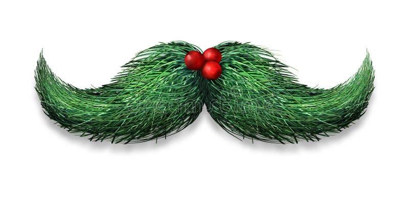 Decorazione dei baffi di inverno illustrazione di stock
