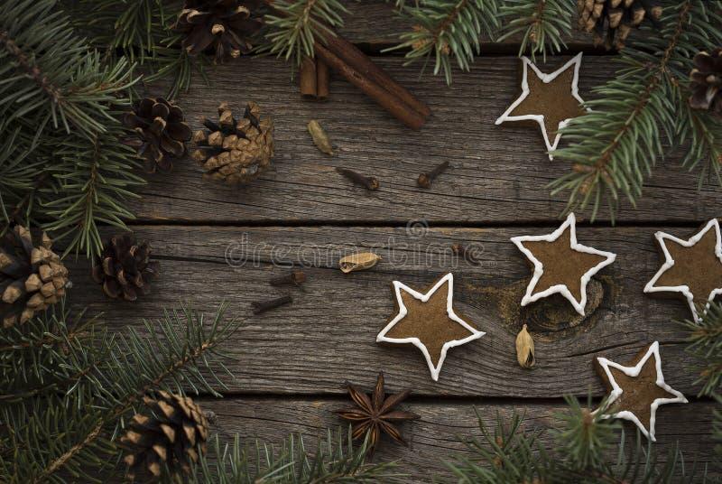 Decorazione dei biscotti di Natale fotografie stock libere da diritti