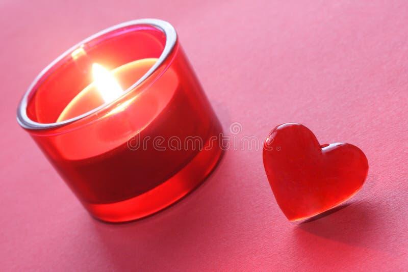 Decorazione del biglietto di S. Valentino fotografia stock
