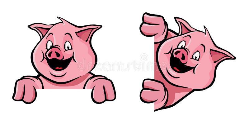 Decorazione del blocco per grafici del maiale illustrazione di stock