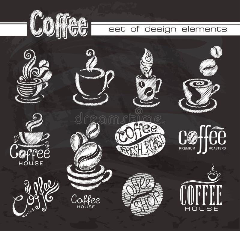 Decorazione del caffè di stile. royalty illustrazione gratis