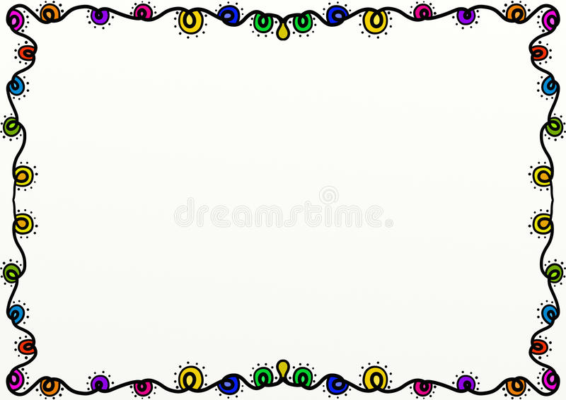 Decorazione del confine della pagina delle luci di Natale illustrazione di stock