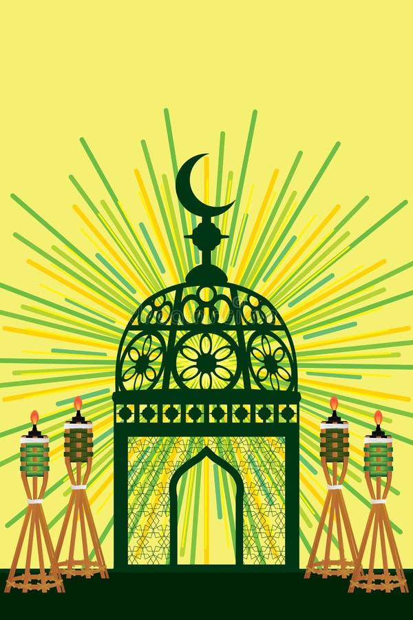 Decorazione del giocattolo del Ramadan alla tavola illustrazione di stock