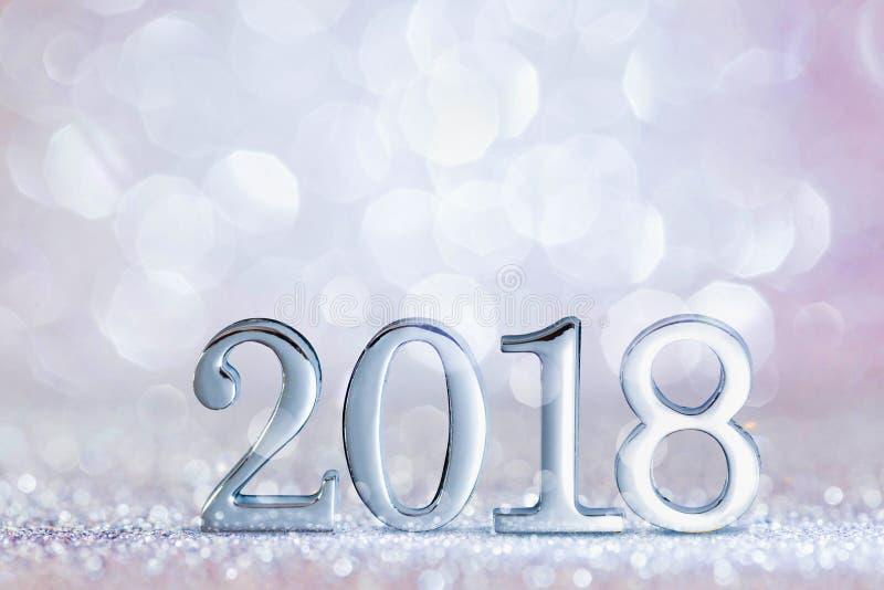 Decorazione 2018 del nuovo anno fotografia stock