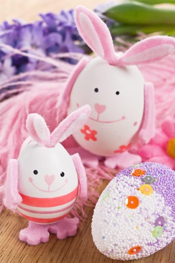 Decorazione dell'uovo del coniglio di Pasqua fotografia stock libera da diritti