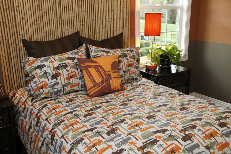 Decorazione della camera da letto moderna fotografia stock immagine di residenziale mobilia - Decorazione camera da letto ...