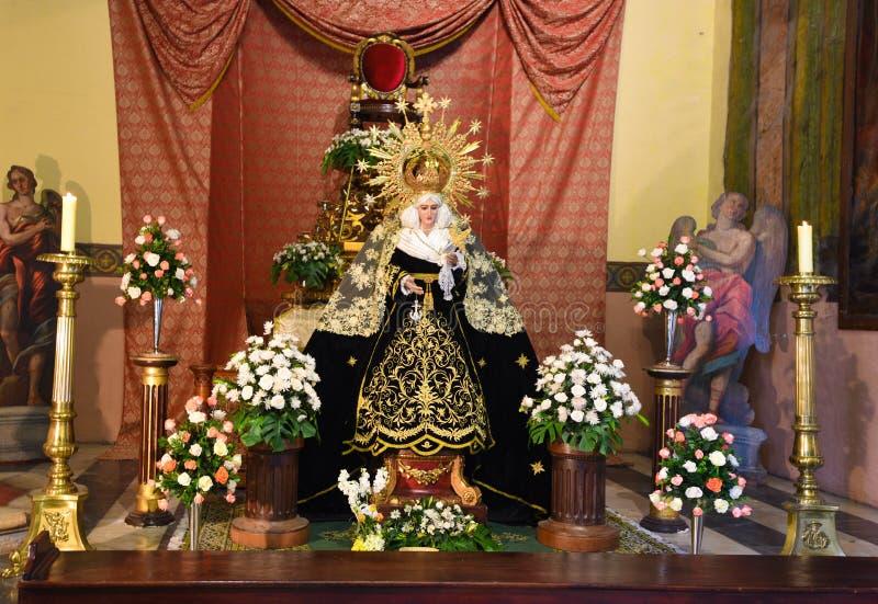 Decorazione della chiesa in Lima Peru fotografia stock