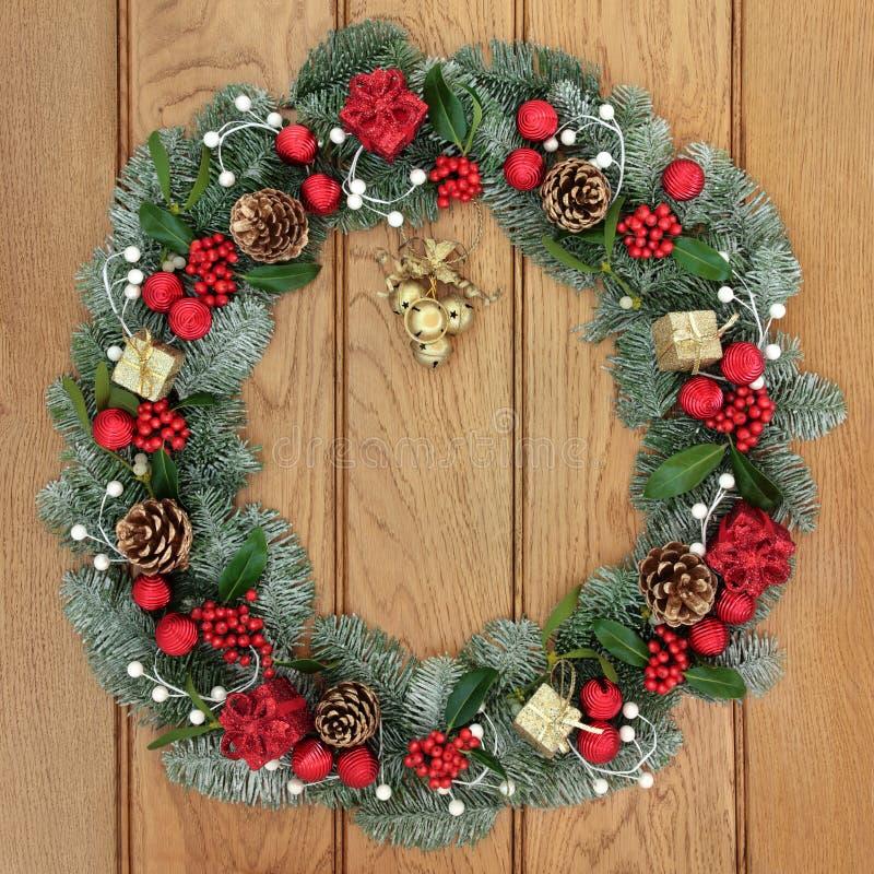Decorazione della corona di Natale fotografie stock libere da diritti