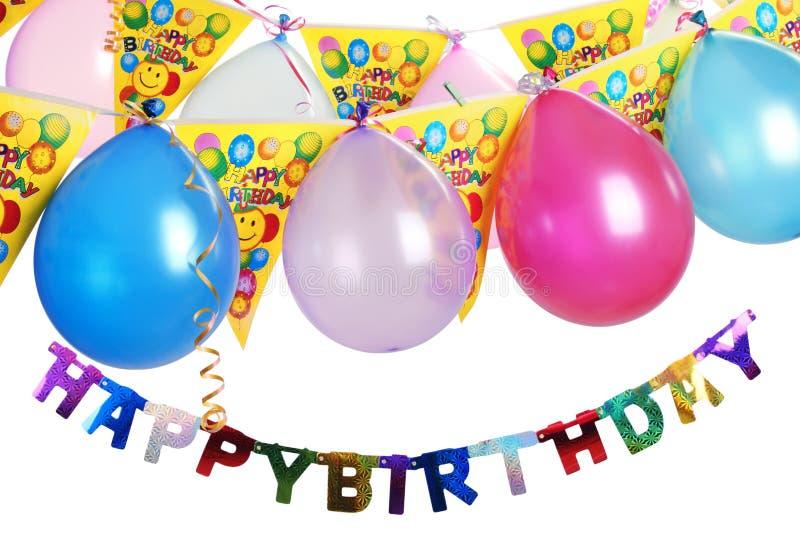 Decorazione della festa di compleanno illustrazione vettoriale