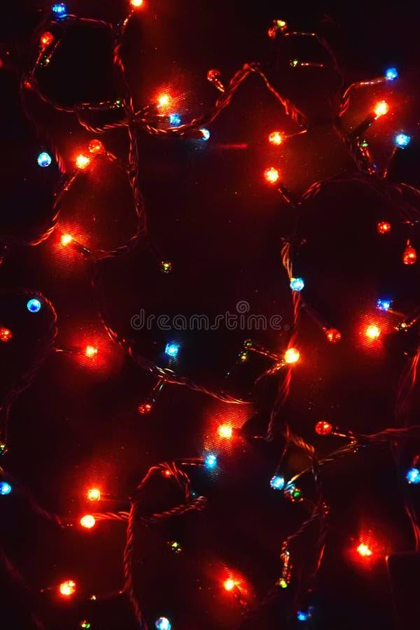Decorazione della lampadina Ghirlanda con immagini stock libere da diritti