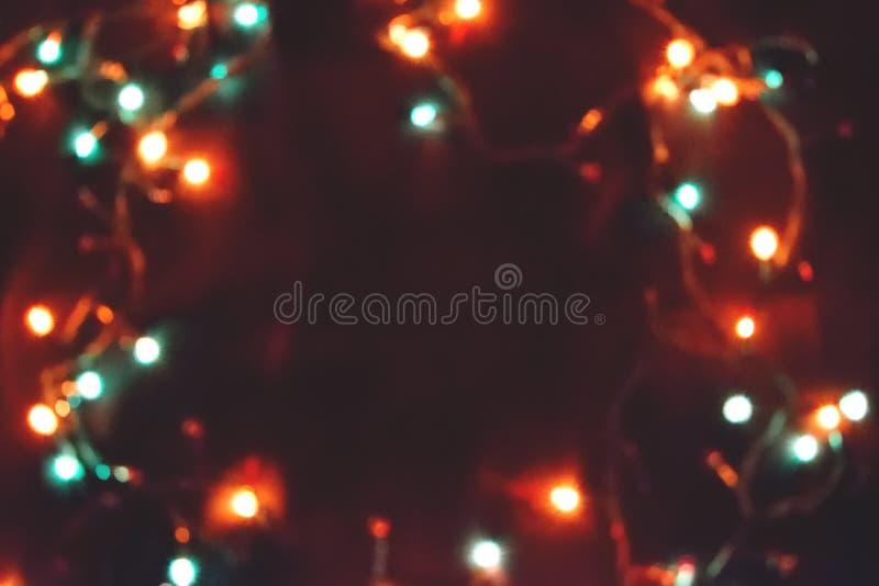 Decorazione della lampadina Ghirlanda con fotografie stock