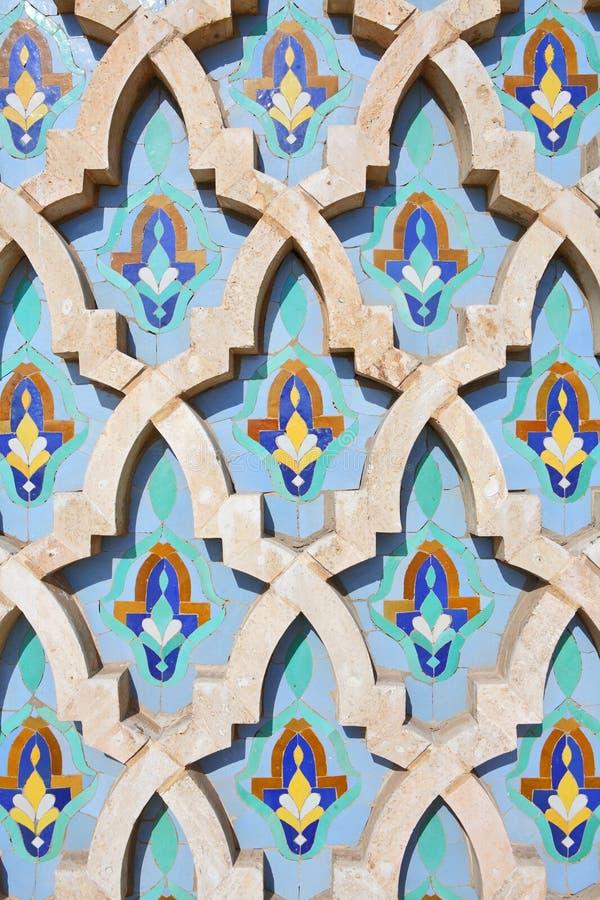 Decorazione della moschea del Hassan II immagini stock libere da diritti