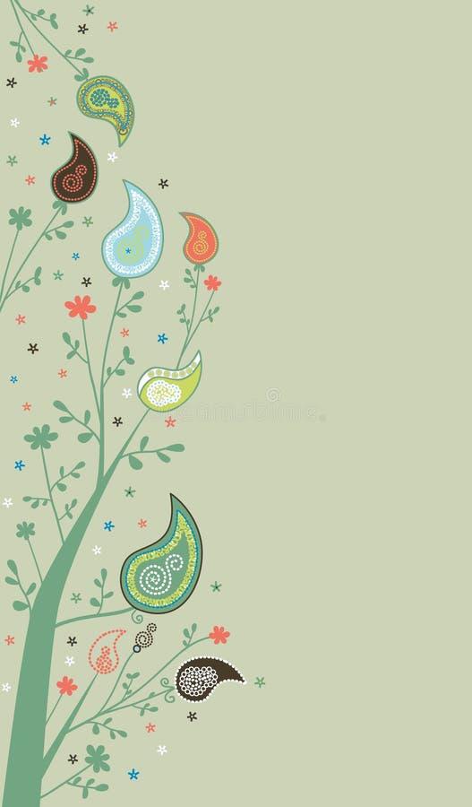 Decorazione della pagina di Paisley illustrazione di stock