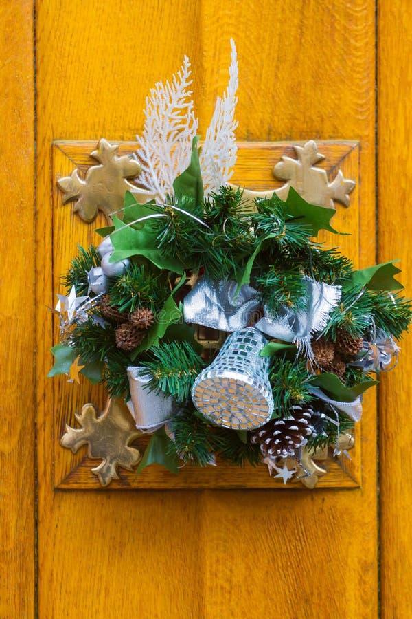 Decorazione della porta di Natale immagini stock libere da diritti