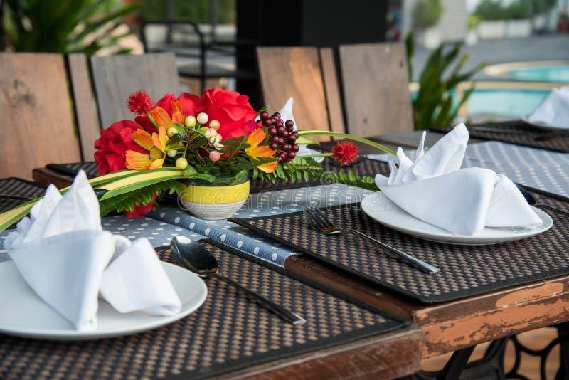Decorazione della tavola di Dinning immagini stock