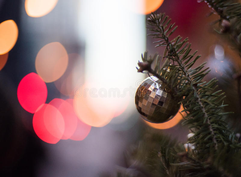 Decorazione della via di Natale immagine stock libera da diritti