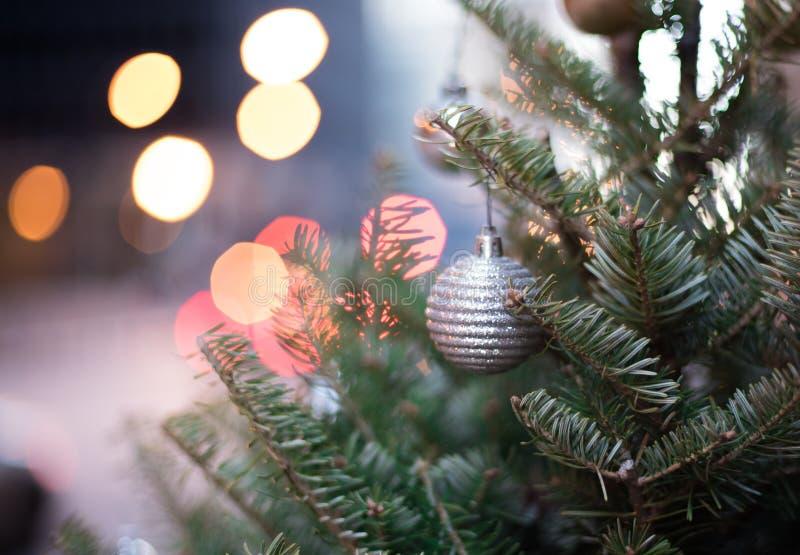 Decorazione della via di Natale immagini stock