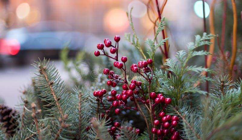 Decorazione della via di Natale fotografie stock libere da diritti