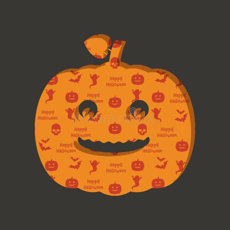 Decorazione della zucca di Halloween illustrazione vettoriale