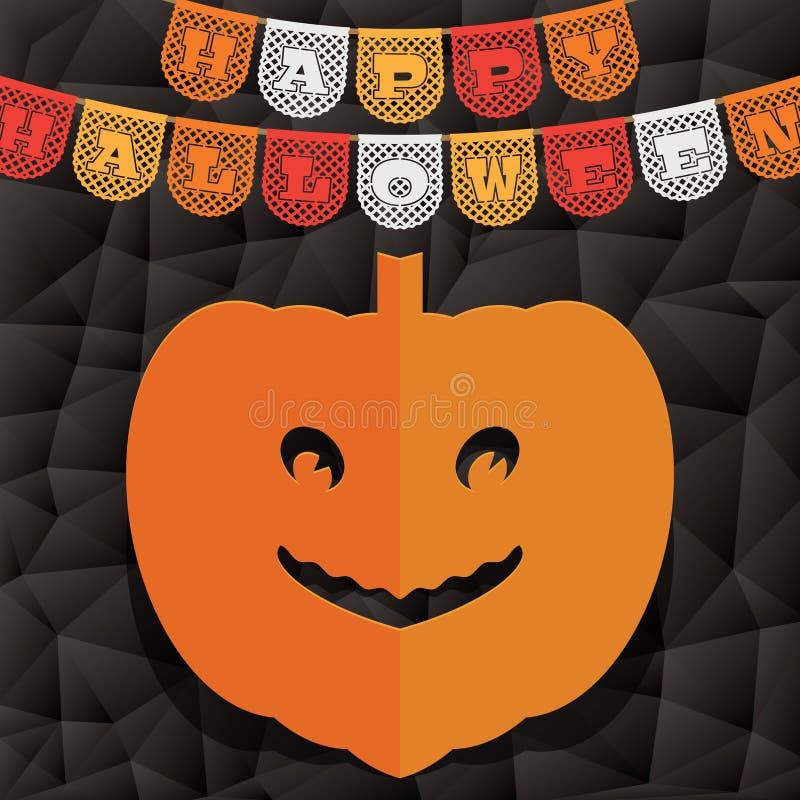 Decorazione della zucca di Halloween royalty illustrazione gratis