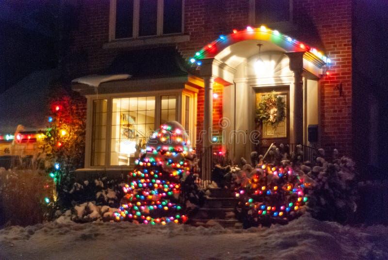 Decorazione delle case in inverno fotografia stock