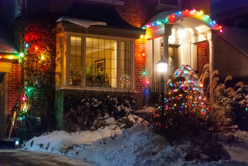 Decorazione delle case in inverno immagini stock