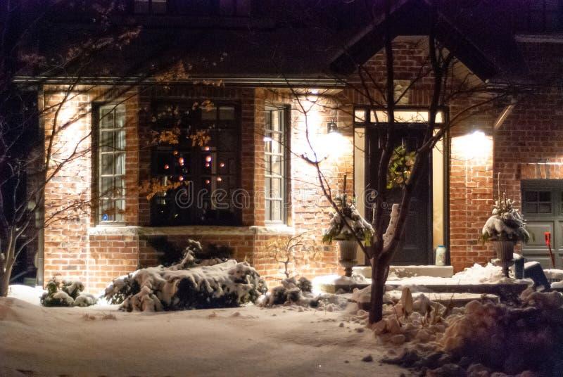 Decorazione delle case in inverno fotografia stock libera da diritti