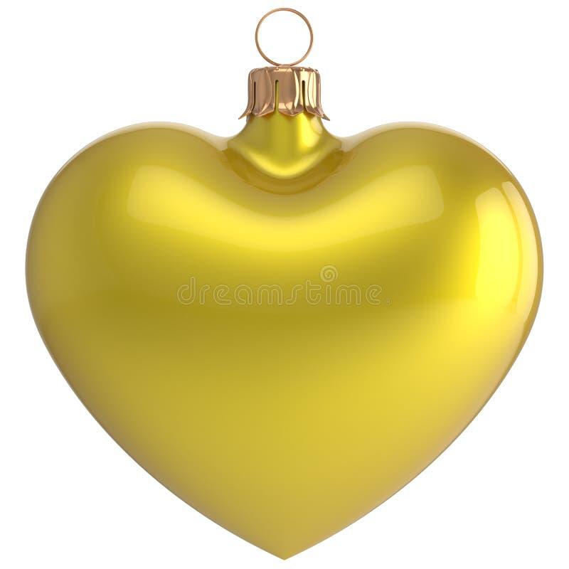 Decorazione di amore della bagattella del ` s EVE del nuovo anno del cuore della palla di Natale illustrazione di stock