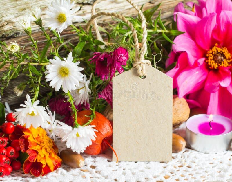 Decorazione di autunno, cartolina d'auguri fotografia stock libera da diritti