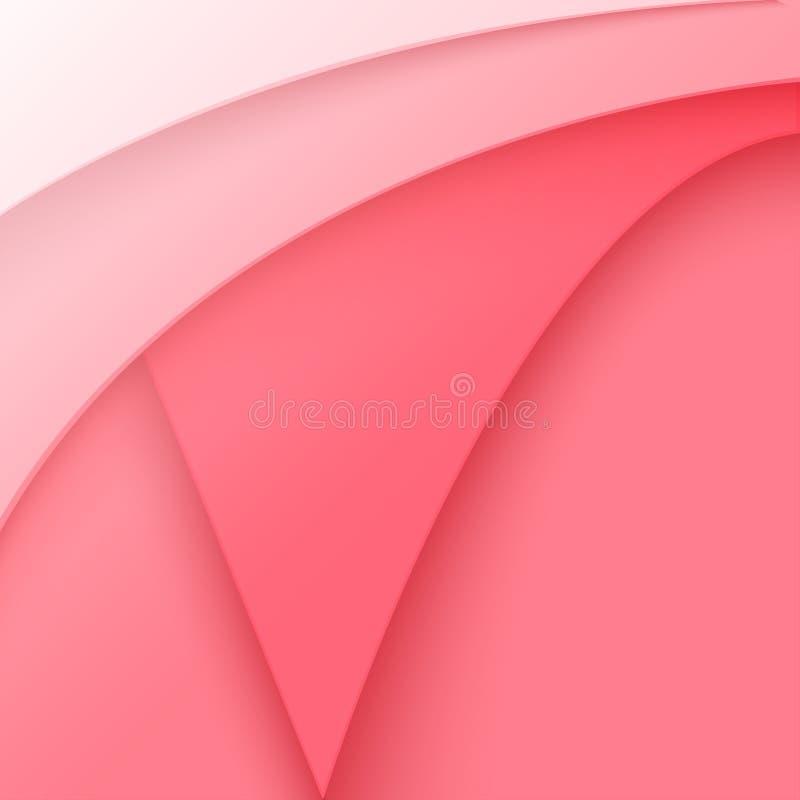 Decorazione di carta rosa astratta di taglio illustrazione di stock
